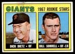 1967 Topps #341   -  Dick Dietz / Bill Sorrell Giants Rookies Front Thumbnail
