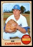 1968 Topps #281  Jim Campanis  Front Thumbnail