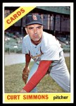 1966 Topps #489  Curt Simmons  Front Thumbnail