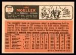 1966 Topps #449  Joe Moeller  Back Thumbnail