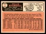 1966 Topps #255  Willie Stargell  Back Thumbnail