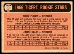 1966 Topps #209   -  Fritz Fisher / John Hiller Tigers Rookies Back Thumbnail