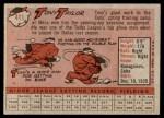 1958 Topps #411  Tony Taylor  Back Thumbnail