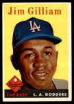 1958 Topps #215  Jim Gilliam  Front Thumbnail