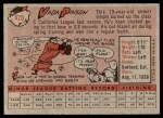1958 Topps #420  Vada Pinson  Back Thumbnail