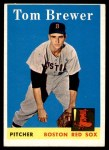 1958 Topps #220  Tom Brewer  Front Thumbnail