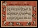 1958 Topps #304   -  Al Kaline / Harvey Kuenn Tigers' Big Bats Back Thumbnail