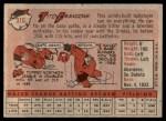 1958 Topps #316  Tito Francona  Back Thumbnail