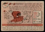 1958 Topps #241  Dick Littlefield  Back Thumbnail