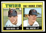 1967 Topps #486   -  Rich Reese / Bill Whitby Twins Rookies Front Thumbnail