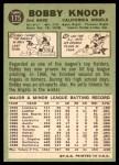 1967 Topps #175  Bobby Knoop  Back Thumbnail
