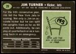 1969 Topps #29  Jim Turner  Back Thumbnail