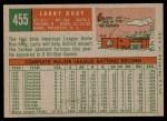 1959 Topps #455  Larry Doby  Back Thumbnail