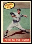 1959 Topps #466   -  Bill Pierce All Star Starter Front Thumbnail