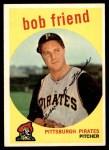 1959 Topps #460  Bob Friend  Front Thumbnail
