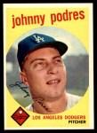 1959 Topps #495  Johnny Podres  Front Thumbnail