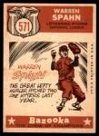 1959 Topps #571   -  Warren Spahn All-Star Back Thumbnail