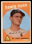 1959 Topps #549  Howie Nunn  Front Thumbnail