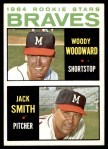 1964 Topps #378   -  Woody Woodward / Jack Smith Braves Rookies Front Thumbnail