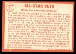 1964 Topps #81   -  Harmon Killebrew / Nellie Fox All-Star Vets Back Thumbnail