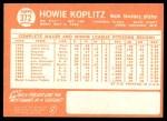 1964 Topps #372  Howie Koplitz  Back Thumbnail