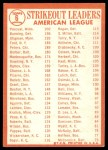1964 Topps #6   -  Camilo Pascual / Jim Bunning / Dick Stigman AL Strikeout Leaders Back Thumbnail