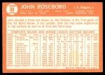 1964 Topps #88  John Roseboro  Back Thumbnail