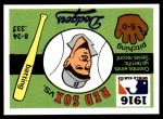 1971 Fleer World Series #14   1916 Red Sox / Dodgers -   Front Thumbnail