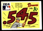 1971 Fleer World Series #12   1914 Braves / A's -    Front Thumbnail