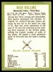 1963 Fleer #24  Rich Rollins  Back Thumbnail