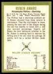 1963 Fleer #50  Ruben Amaro  Back Thumbnail