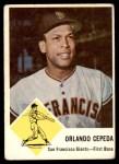 1963 Fleer #64  Orlando Cepeda  Front Thumbnail