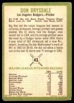 1963 Fleer #41  Don Drysdale  Back Thumbnail