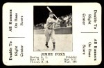 1936 S&S Game  Jimmie Foxx  Front Thumbnail
