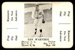 1936 S&S Game  Lon Warneke  Front Thumbnail