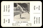 1936 S&S Game  Carl Hubbell  Front Thumbnail