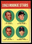 1963 Topps #522   -  Gary Peters / Jim Roland / Mel Nelson / Art Quirk Rookie Stars   Front Thumbnail