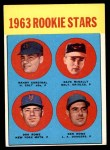 1963 Topps #562   -  Dave McNally / Ken Rowe / Randy Cardinal / Don Rowe Rookie Stars   Front Thumbnail