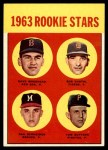 1963 Topps #299   -  Dave Morehead / Tom Butters / Dan Schneider / Bob Dustal Rookie Stars   Front Thumbnail