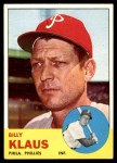 1963 Topps #551  Billy Klaus  Front Thumbnail