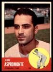 1963 Topps #464  Ken Aspromonte  Front Thumbnail