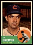 1963 Topps #309  Jim Brewer  Front Thumbnail