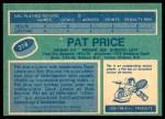 1976 O-Pee-Chee NHL #318  Pat Price  Back Thumbnail