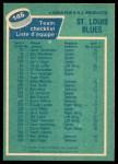 1976 O-Pee-Chee NHL #146   Blues Team Back Thumbnail