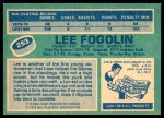 1976 O-Pee-Chee NHL #253  Lee Fogolin  Back Thumbnail