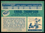 1976 O-Pee-Chee NHL #259  Errol Thompson  Back Thumbnail
