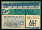 1976 O-Pee-Chee NHL #174  Tom Lysiak  Back Thumbnail