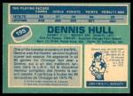 1976 O-Pee-Chee NHL #195  Dennis Hull  Back Thumbnail