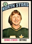 1976 O-Pee-Chee NHL #34  Dennis O'Brien  Front Thumbnail