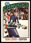 1976 O-Pee-Chee NHL #53  Don Lever  Front Thumbnail